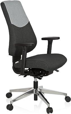 hjh OFFICE 608829 PRO-TEC 600 - Silla giratoria de oficina, tejido de color