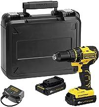 STANLEY FATMAX FMC608C2K-QW - Taladro atornillador Brushless 18V, 55 Nm, 2 baterías de litio 1.3 Ah y maletín