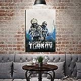 aicedu 1 Pieza HD Soldier Photo Print Escape from Tarkov Videojuego Poster Wall Sticker Canvas Painting para Decoración De Pared-40X60Cm