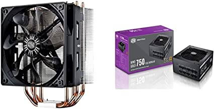 Cooler Master Hyper 212 Evo CPU Cooler w/ 4 Continuous Direct Contact Heatpipes, Intel LGA1151,AMD AM4/Ryzen and Cooler Ma...