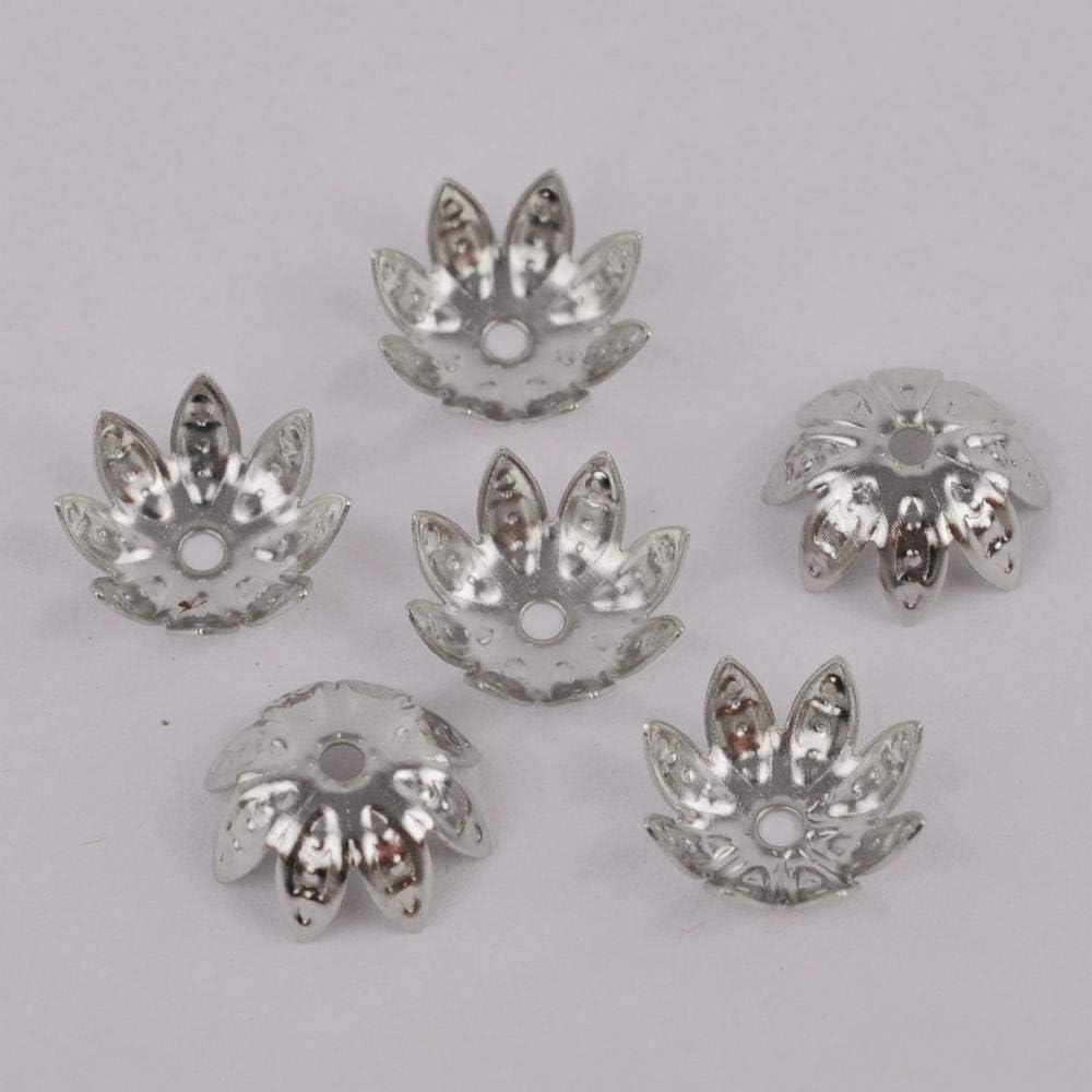 overseas ZFCMIAO overseas 2000 8mm 10mm Flower Cap Bracelet end Necklace Beads