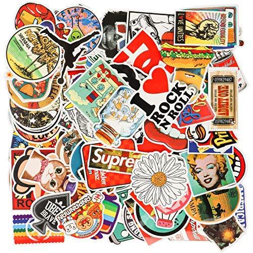 Carttiya Aufkleber Pack [100-pcs], Wasserdicht Vinyl Stickers Decals für Laptop MacBook Fahrrad Motorrad Helm Skateboard Adventskalender Snowboar Auto Aufkleber Kinder und mehr(Ins)