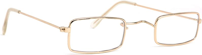 Skeleteen Old Man Costume Glasses - Rectangular Granny Dress Up Eyeglasses - 1 Pair