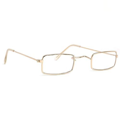Skeleteen Old Man Costume Glasses - Rectangular Granny Dress Up Eyeglasses  - 1 Pair abb25db1c2