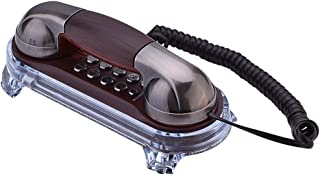 Wendry Wall Mounted Telephone, Fashion Wall Hanging Corded Phone with Ringtones Adjustment Tone Dialing Suitable for Home,...