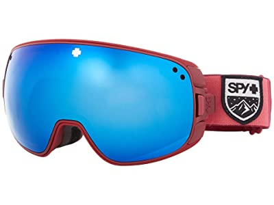 Spy Optic Bravo (Colorblock Raspberry Hd Plus Rose w/ Dark Blue Spectra Mirror) Snow Goggles