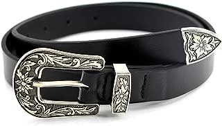 Women Vintage Boho Belt Double Buckle Retro Carved Waist Belt Metal Western Coachella