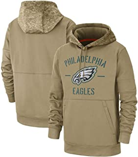 Littlearth Men's Philadelphia Eagles 2019 Salute to Service Sideline Therma Pullover Hoodie L