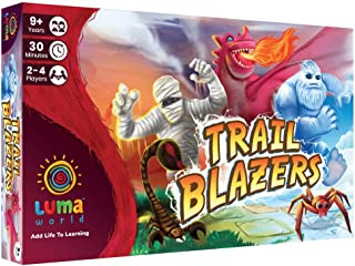 Luma World Trail Blazers STEM Strategy Board Game for Ages 9+ Years to Learn Geometry, Shapes, Lines and Improve Creativit...