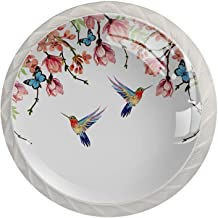 Lade knoppen ronde kristallen glazen kast handgrepen Pull 4 Pcs,Bird