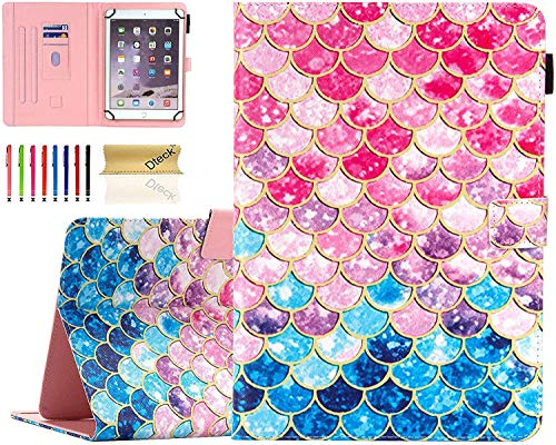 Universal 8.0 inch Tablet Case, Dteck Stand Folio Flip Wallet Case for iPad Mini 7.9'/ Galaxy Tab 8.0 /Fire HD 8/ Nextbook Tagital/Dell/HP/LG G Pad and More All 7.5-8.5 inch, Colorful Scale