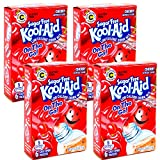 Kool-Aid Sugar Free Low Calorie Drink Mix 6 easy open packets (Pack of 4) Gluten Free (Cherry)
