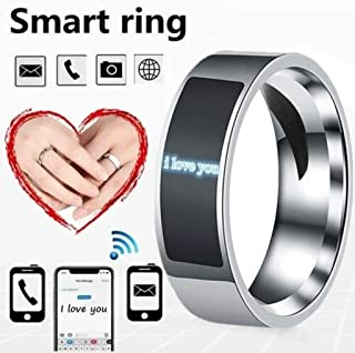 NFC Smart Finger Digital Ring Wear Connect Android Phone Equipment Rings Fashion (Black,13)