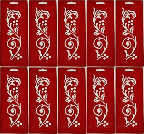 Bordüren-Schablone Motiv Wein ca. 11 cm x 27,5 cm 10 Stück