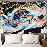 LOMOHOO Wandteppich Bunte Gouacheteppich Psychedelische Kunst Tapisserie Marmor Windung Wandteppiche Wandbehang für zu Hause raumdekoration (B-Marmor Windung, L/148cmx200cm)