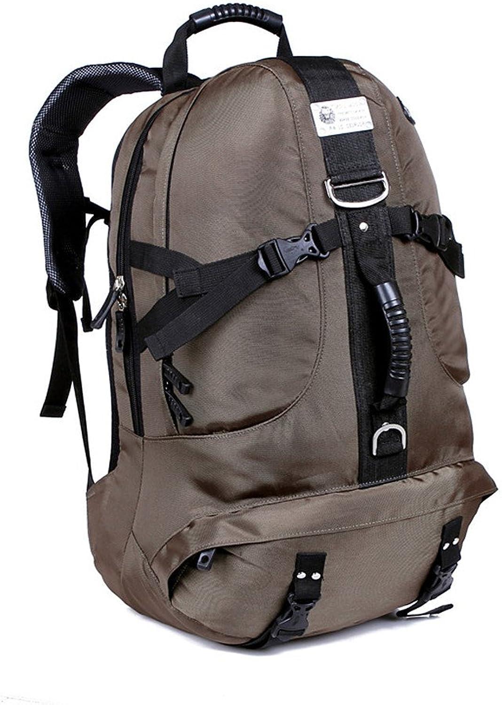 MISHUAI Bergsteigerrucksack Hochleistungs-wasserdichter Nylonrucksack Outdoor Camping Trip Reiten Wanderrucksack Multifunktions Rucksack mit groer Kapazitt (Farbe   Grau)
