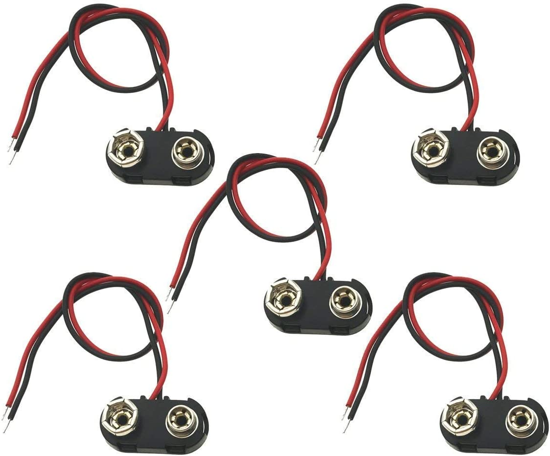 5Pack Ranking TOP10 9V Super special price Battery Snap Connector Volt B Clips 9