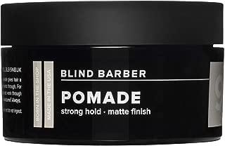Blind Barber 90 Proof Pomade - Strong Hold, Light Texture Matte Hair Pomade for Men, Water Based Pomade with Hops & Tonka Bean (2.5oz / 70g)