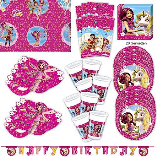 Mia and me Party Set XL 63-teilig für 6 Gäste Miaparty Geburtstag Deko Partypaket