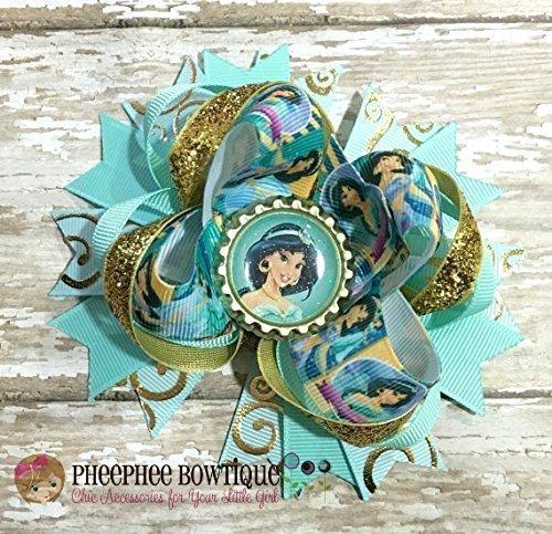 Disney/'s Aladdin Princess Jasmine Inspired Arabian Princess Hair Bow