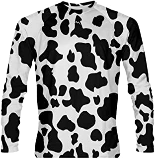 Cow Long Sleeve Athletic Shirt Halloween Cow Costume for Kids and Adults