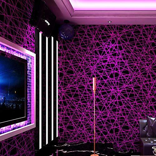 3D Linie Korridor Glitzer Dekoration Hintergrund Wandleiste Tapete-lila