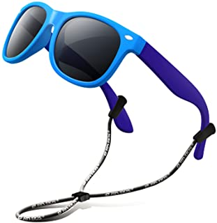 RIVBOS Rubber Kids Polarized Sunglasses with Strap Shades...