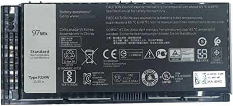 BOWEIRUI Replacement Laptop Battery for Dell FJJ4W (11.1V 97Wh 8550mAh) Precision M4600 M4700 M4800 M6600 M6700 M6800 Series FV993 PG6RC R7PND OTN1K5 N71FM T3NT1-12-Month Warranty