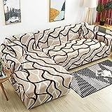 WXQY Funda de sofá de Esquina para Sala de Estar Funda de sofá elástica Toalla de sofá elástica Funda de sillón Chaise Longue en Forma de L A21 2 plazas