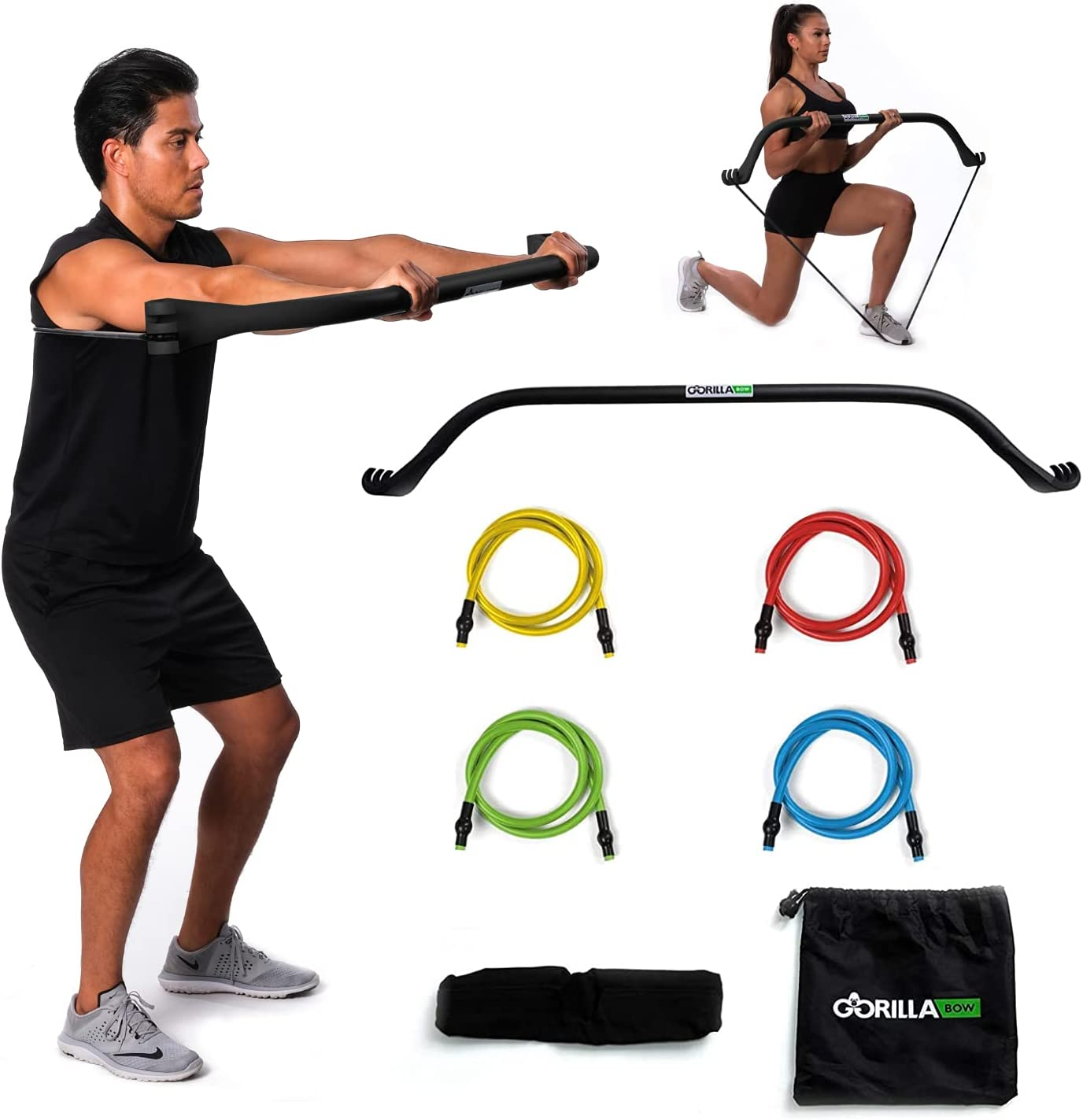 Gorilla Bow Portable Home Gym 2020モデル Resistance fo Bar and System 新発売 Bands