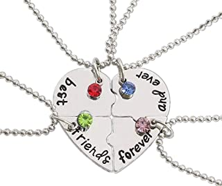 Alloy Silver Friendship Necklace (best friends forever and ever)