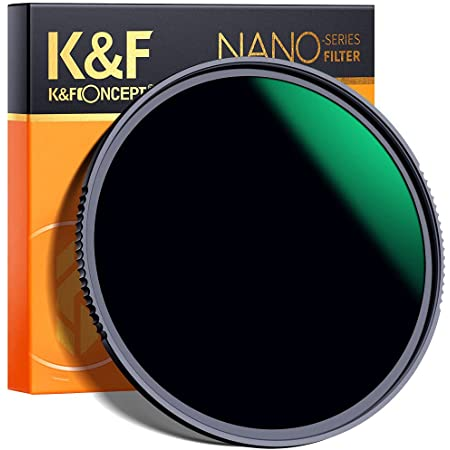 K&F Concept 77MM Neutral Density Filter, 10 Stop ND 1000 Filter HD 18 Layer Super Slim Multi-Coated Glass Neutral Grey ND Lens Filter Nano-X MRC Series for Camera Lens
