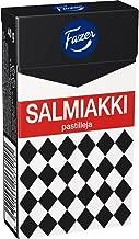 4 Boxes x 40g of Fazer Salmiakki - Original Finnish Salty Liquorice - Salmiak - Pastilles - Dragees - Drops - Candies - Sweets