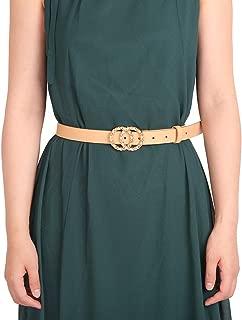 Tanpie Women's Leather Belt Skinny Waist Strap