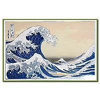クリスマスカード 和風 海外向け CHIKYU 北斎 神奈川沖波裏 C300-11
