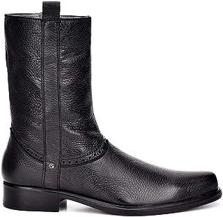 FRANCO CUADRA Men`s Boot in Genuine Deer Leather Black