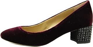Michael Michael Kors Women's Arabella Kitten Pump Plum Velvet Loafer