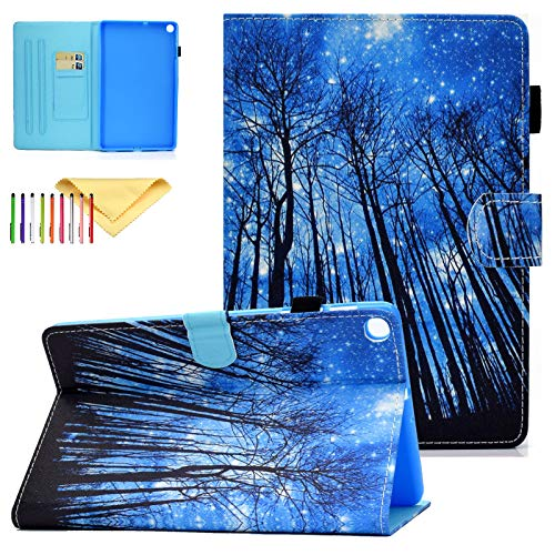Uliking Slim and Lightweight Protective Cases and Covers with Pen Holder Fit Samsung Galaxy Tab A 10.1 2019 SM-T510/T515/T517 Tablet, Froest