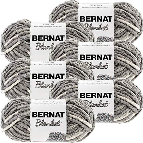 Bernat Blanket Yarn-6/Pk-Silver, 6/Pk, Silver Steel 6 Pack