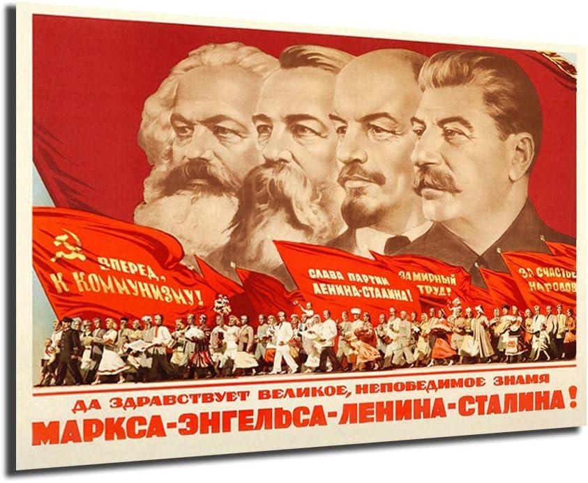 Communism Propaganda 2020モデル 売れ筋ランキング Poster Marx Friedrich Stalin Engels Lenin C