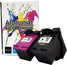 Afotrunat Remanufactured for HP62 62xl(C2P07AN) Balck Tricolor High Yield Ink Cartridge Combo Pack Used with HP Envy 7640 5660 5640 5540 5642 5643 5644 OfficeJet 8040 5745 5740 5742 Printer