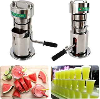 10T Sugar Cane Juicer Machine, Stainless Manual Hydraulic Commercial Fruit Juice Extractor Cane Crusher Squeezer Sugar Cane Press Extractor USA STOCK