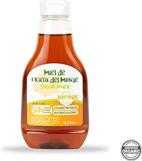 Miel Monk: Miel de Fruta del Monje sabor maple 250 ml.