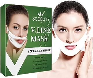 V Mask,V Face Mask,Vline Mask,V Shape Mask,V UP Mask,V Line Lifting Mask,Chin Up Patch Double Chin Reducer V Shaped Slimming Face Mask Neck Up Slimming Tightening Mask 5 PCS