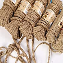 DFSM 10M Natural Jute Rope Twine Rope Hemp Twisted Cord Macrame String DIY Craft Handmade Decoration Pet Scratching 4mm-12mm (Color : 8MM)