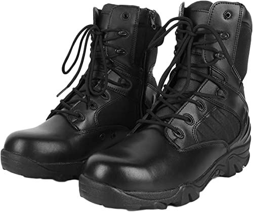 Vdason Stiefel Tácticas Militares de Hombre Ultraligero Stiefel De Caminatas Al Aire Libre En El Desierto schuhe De Combate Transpirable Resistente Al Desgaste schuhe Casuales,schwarz-EU45