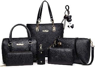 DOODOO レディース 斜めかけバッグ ポシェット ハンド PUレザー ショルダー Sling Shoulder Hand Bag for Women 肩掛け ミニ トート