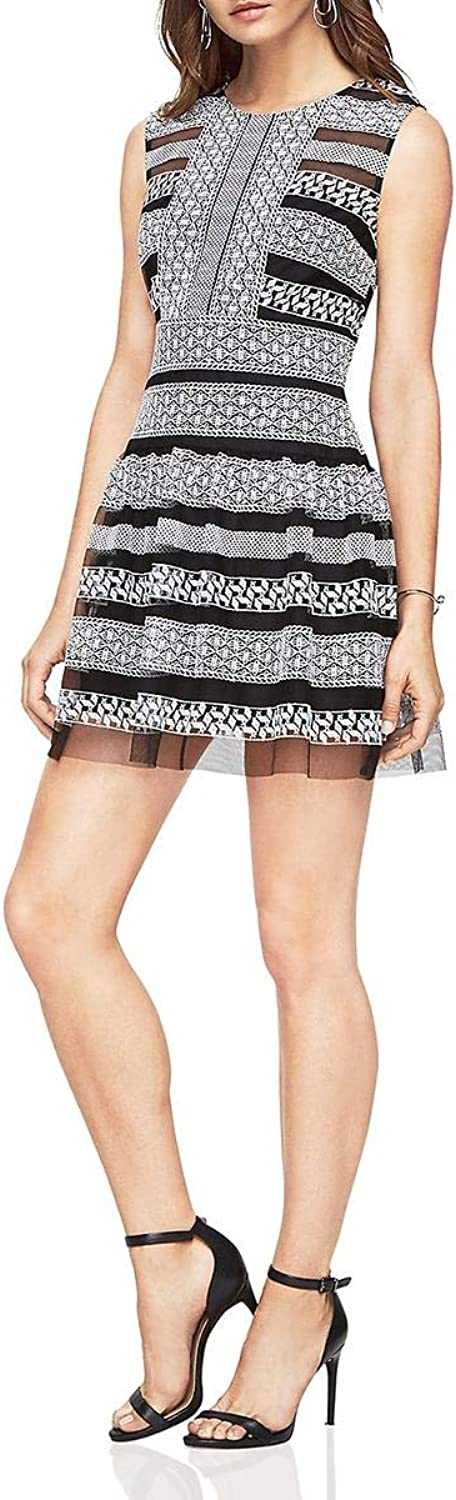 BCBG Max Azria Womens Kirsi Sleeveless KneeLength Casual Dress