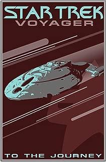 CafePress - Retro Star Trek: VOY Poster - 23