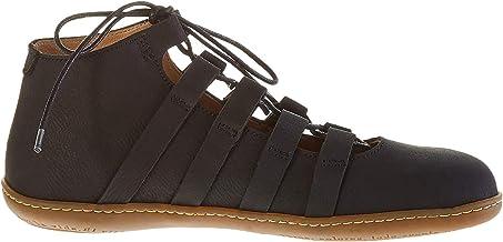 El Naturalista N5284 Pleasant Black/El Viajero, Zapatos de Cordones Brogue para Mujer